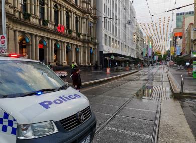 File photo of a police van in Melbourne, Australia.