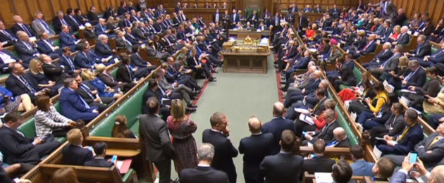 A full house in attendance during the debate for the Government no confidence motion in the House of Commons