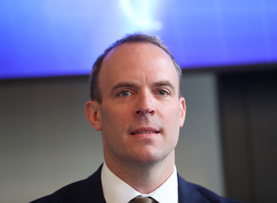 Raab was speaking yesterday to the Westminster Northern Ireland Affairs Committee.