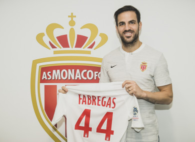 Cesc Fabregas completes his move to Monaco.