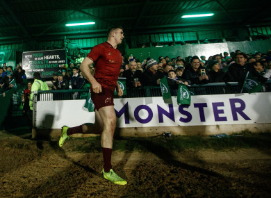 Chris Farrell runs out at the Sportsground.