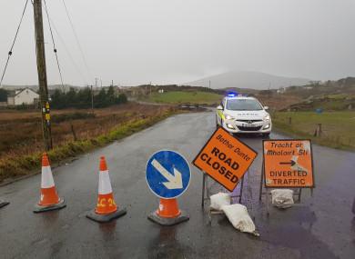 The scene of the crash in Gortahork, Donegal, yesterday.