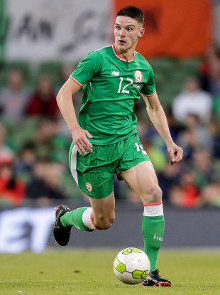 Rice playing for Ireland against USA in June.