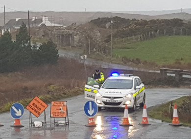 The scene in Gortahork, Donegal, where four young men have died in a road crash.