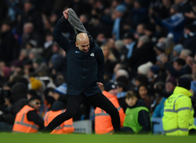 Guardiola's scarf took a bit of a beating in the final minutes.