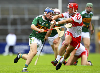 Shane Conway (pictured in action for the Kerry U21 hurlers) starred for UCC today.