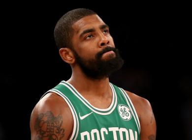 Boston Celtics point guard, Kyrie Irving.