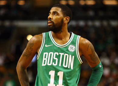 Boston Celtics guard Kyrie Irving.