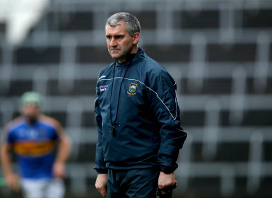 Sheedy looks on during Tipperary's Munster Hurling League meeting with Clare earlier this year.