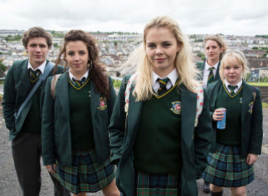 The main Derry Girls characters - Erin, Orla, Clare, Michelle and James - will be painted onto a side of the Badgers Bar.