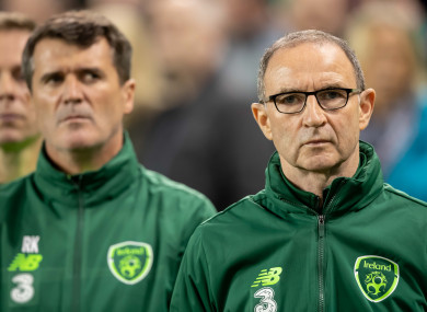 Martin O'Neill and Roy Keane ahead of Ireland's Uefa Nations League game against Wales at the Aviva Stadium.