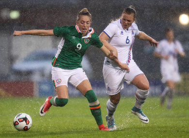 Megan Connolly (left) is among the returning players in the Ireland squad.