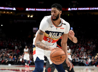 New Orleans Pelicans forward, Anthony Davis.