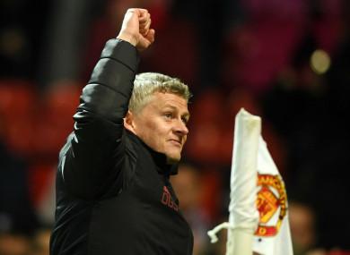 Manchester United's caretaker boss Ole Gunnar Solskjaer