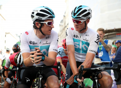 French mission: Thomas, left, and Froome, right, will prioritise the Tour in 2019.
