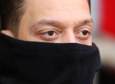 Frozen out: Arsenal's Mesut Ozil.