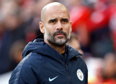 Pep says it's part of club culture outside England.