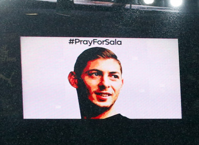 Tributes are paid to Emiliano Sala atthe Emirates Stadium.