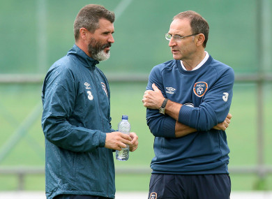 The pair spent five years in charge together with Ireland.