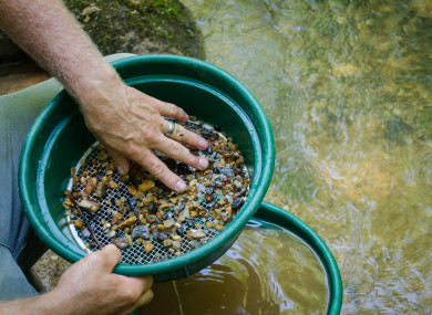 File photo of gold panning