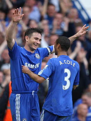Frank Lampard and Ashley Cole in 2010.
