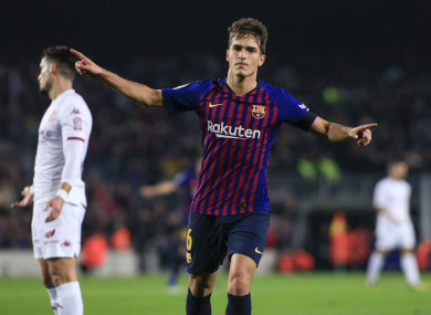 The 25-year-old has made 71 appearances for Barcelona's first team.