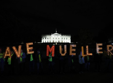 Protesters gather outside the White House in November 2018 to express concern that the newly appointed US attorney general may hinder the Russia probe.