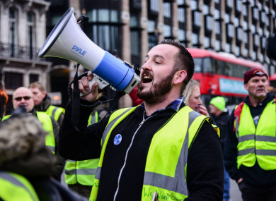 Pro-Brexit protester James Goddard was arrested earlier today