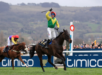 Robbie Power after winning the 2017 Chetlenham Gold Cup with Sizing John.