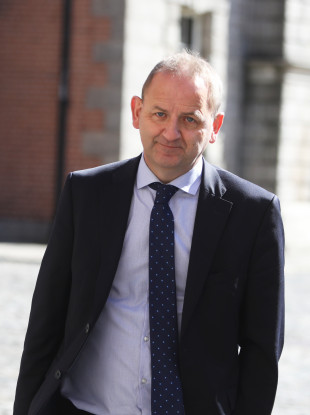 Maurice McCabe pictured arriving at the Disclosures Tribunal on 21 June 2018.