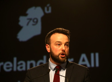 Eastwood spoke at the Fianna Fáil Ard Fheis in Citywest Hotel.