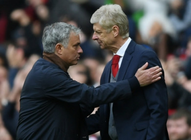 Mourinho and Wenger clashed many times through the years.