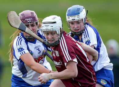 Galway's Ailish O'Reilly with Iona Heffernan and Keely Corbett-Barry of Waterford.