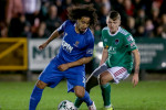 Waterford's Bastien Hery is tracked by James Tilley of Cork City.