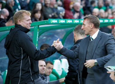 Neil Lennon (left) could be in line to take over if Rodgers leaves.