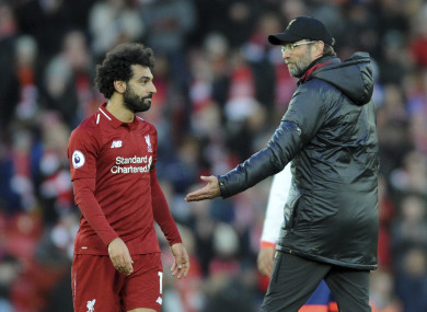 Klopp was very pleased with the Liverpool star.