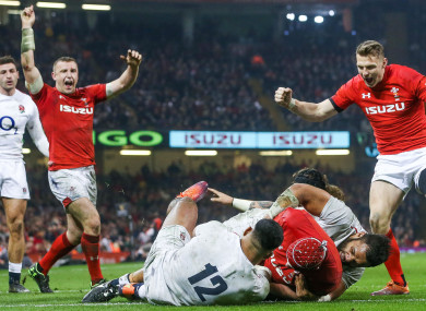 Hill scores crucial try after 34 phases against England.