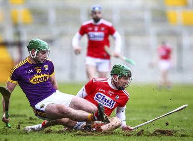 Difficult conditions for the teams in last Sunday's GAA league games in Páirc Uí Chaoimh.