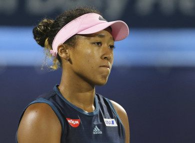 Okaka dejected after her second round defeat on Tuesday.