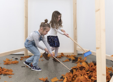An interactive sculpture at the Elemental exhibition, West Cork Arts Centre.