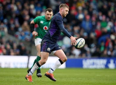 Russell facing Ireland at Murrayfield.