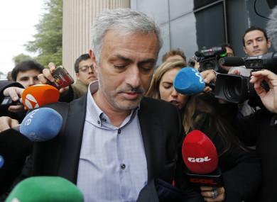 Mourinho outside court in Madrid in November 2017.