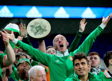 Travelling Ireland fans.
