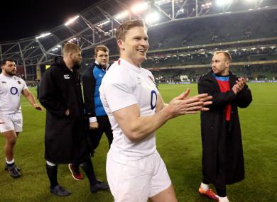 England's Chris Ashton celebrates.