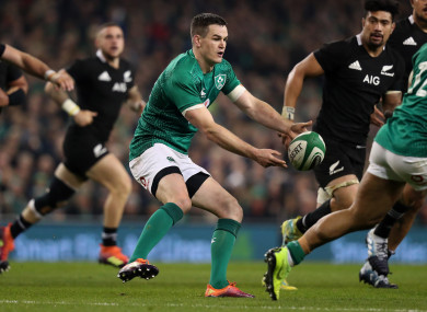 Ireland going into the World Cup after clinching their first-ever win over the All Blacks on home soil last November.