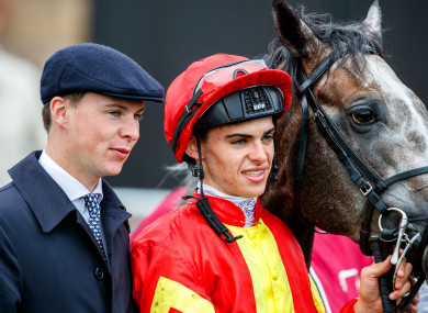 Donnacha with his brother Joseph (left) and Speak In Colours at the Curragh.