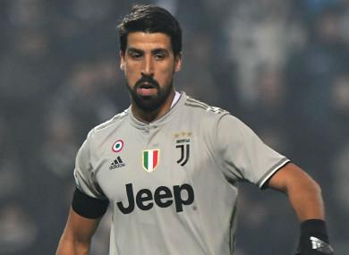 Juventus midfielder Sami Khedira.