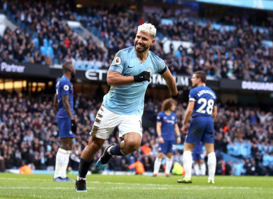 The Argentine equaled Alan Shearer's record for Premier League hat-tricks on Sunday.
