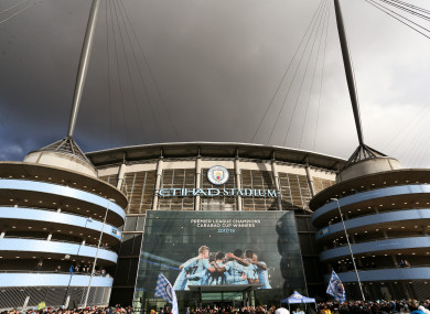 A general view of the Etihad Stadium ahead of the match.
