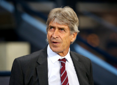 Manuel Pellegrini back at the Etihad Stadium last night.